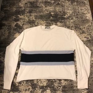 Brandy Melville Navy and Light Blue stripe shirt